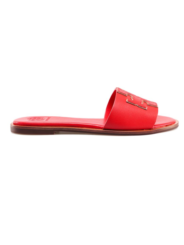 Tory Burch Ines Sliders - Brilliant Red/spark Gold