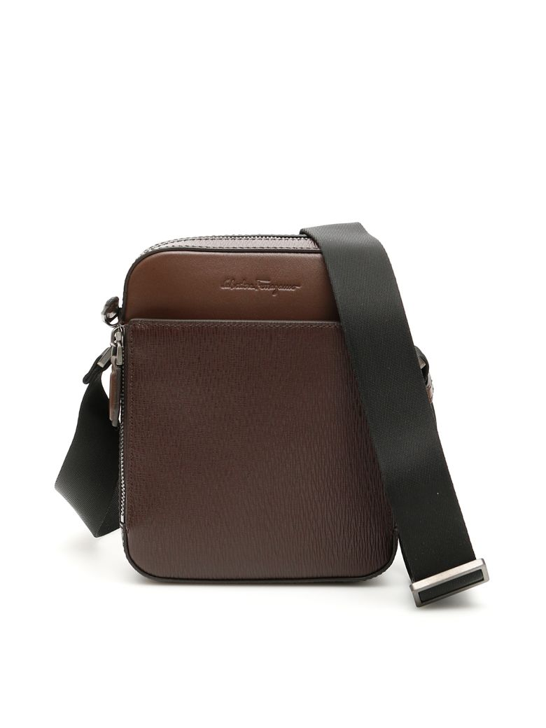 Salvatore Ferragamo Revival Messenger Bag - BROWN (Brown)