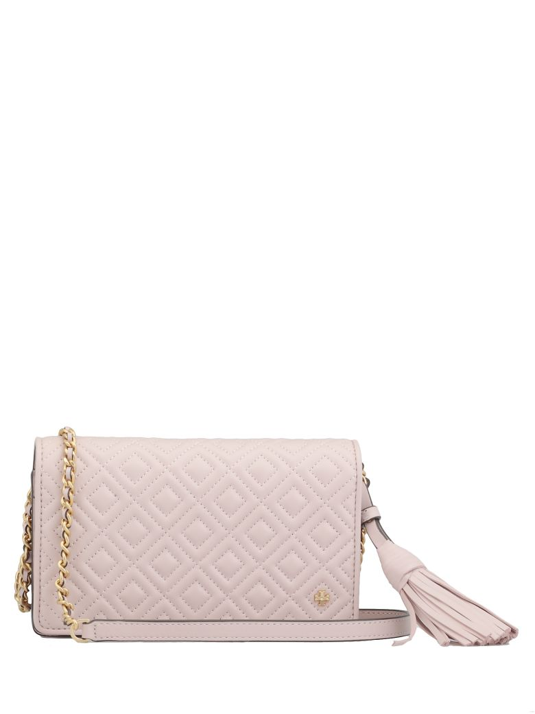 Tory Burch Fleming Flat Wallet - SHELL PINK