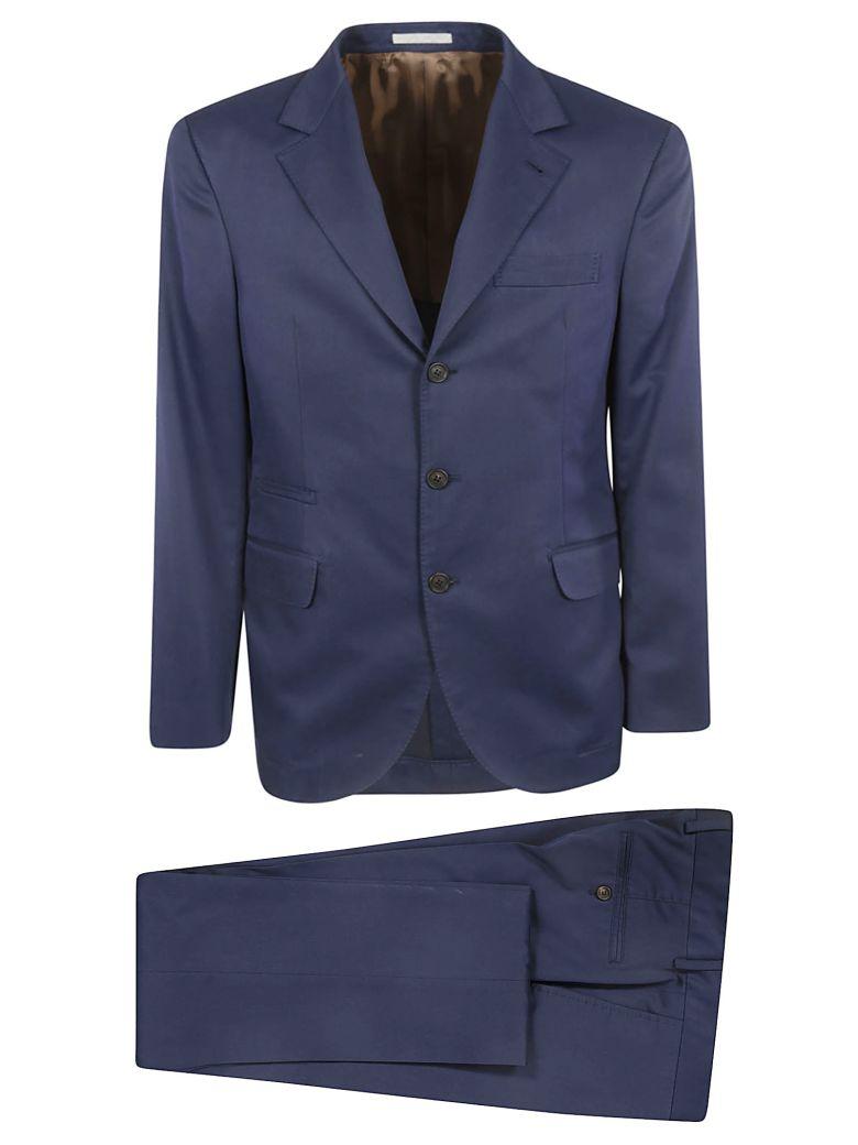 Brunello Cucinelli Single Breasted Suit - Blue