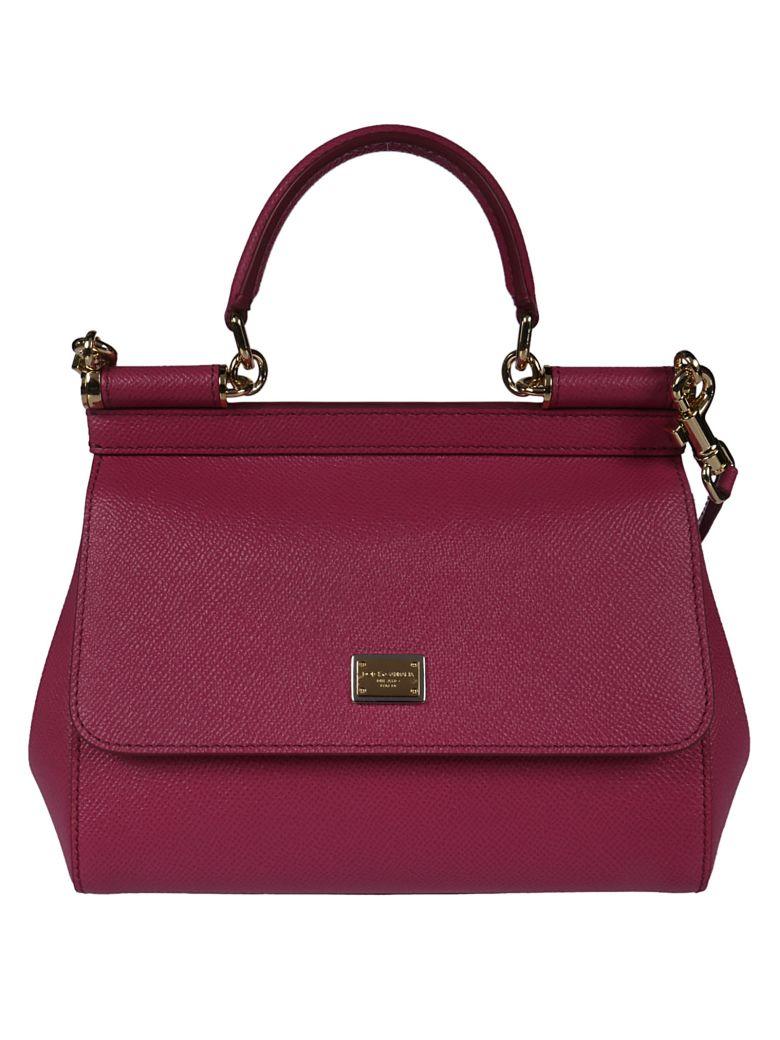 Dolce & Gabbana Sicily Shoulder Bag - geranium red