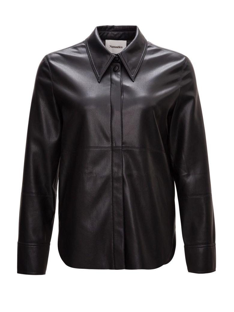 Nanushka Vegan Leather Shirt - Black