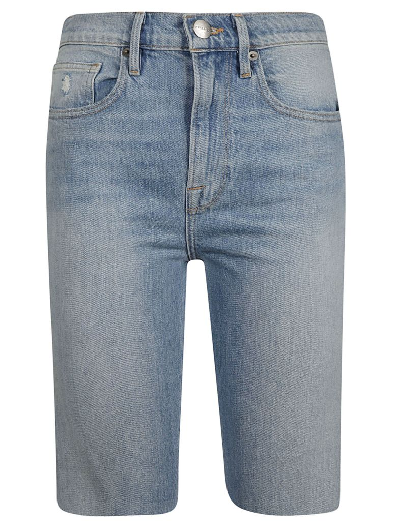 Frame Knee-length Denim Shorts - Blue