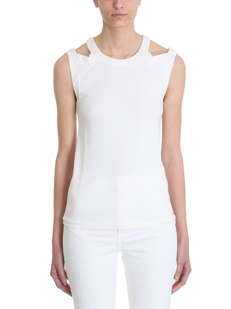 Sonia Rykiel Cut Out White Top - white