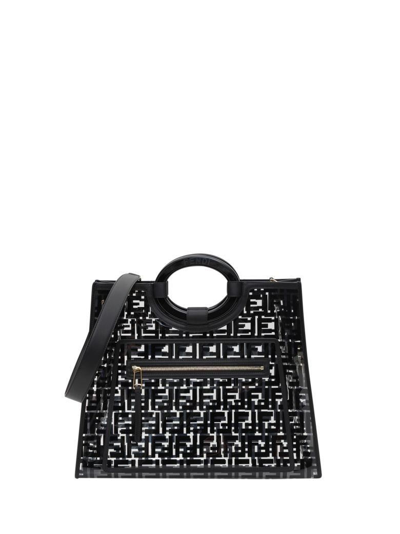 Fendi Transparent Shopper - Black