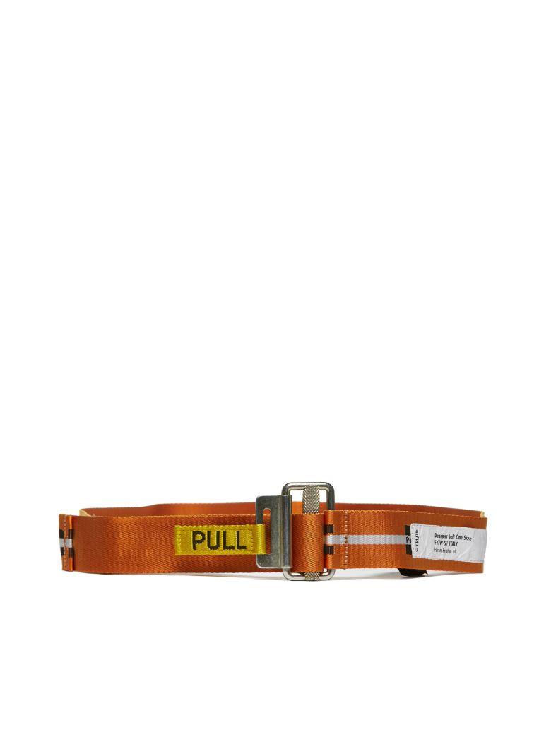 HERON PRESTON Printed Work Belt - Arancio nero