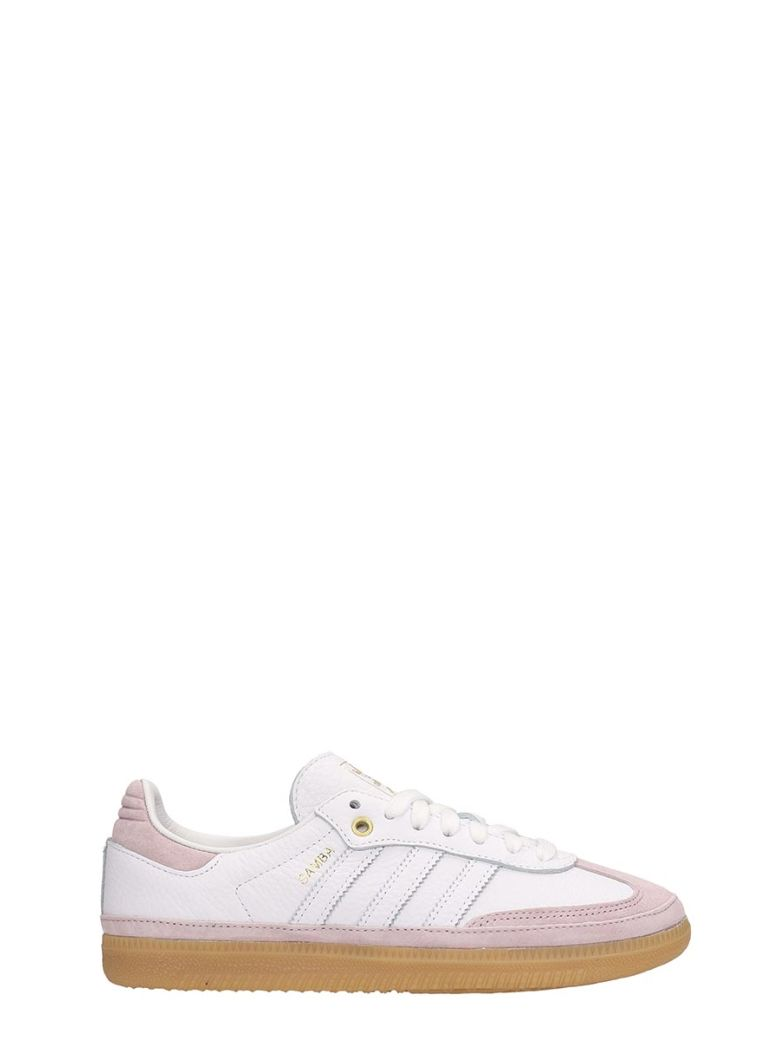 Adidas White Leather And Suede Sneakers Samba Og W Relay In Pink - white