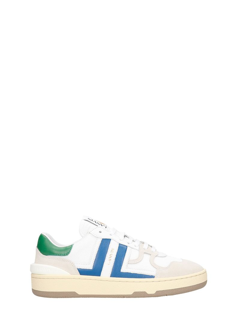 Lanvin Clay Sneakers In White Leather And Fabric - white