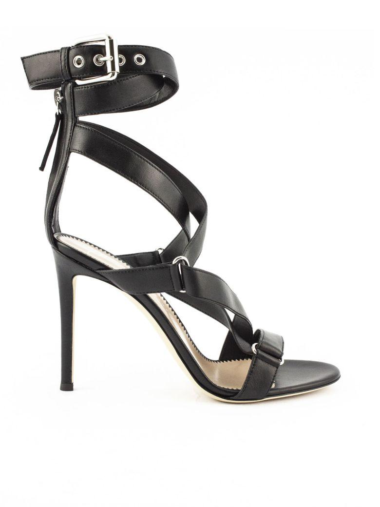 "Giuseppe Zanotti Black Leather ""larissa"" Sandals - Nero"