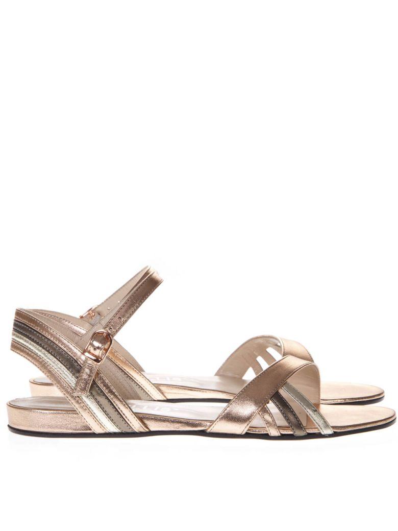 Marc Ellis Patent Platinum Leather Sandals - Platinum