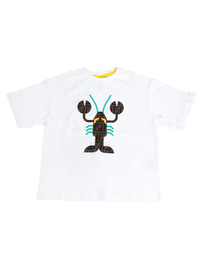 Fendi Kids Lobster Logo T-shirt