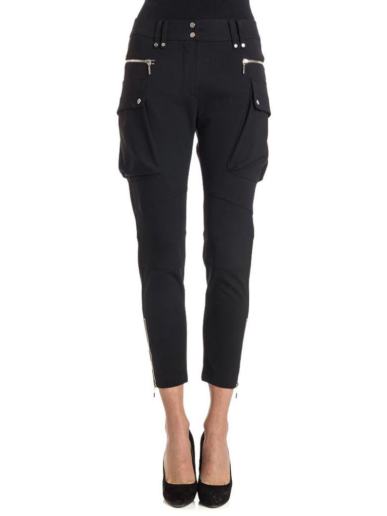 Plein Sud Viscose And Virgin Wool Trousers - BLACK