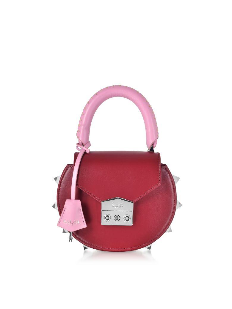 Salar Mimi Multicolor Top Handle Shoulder Bag - Red