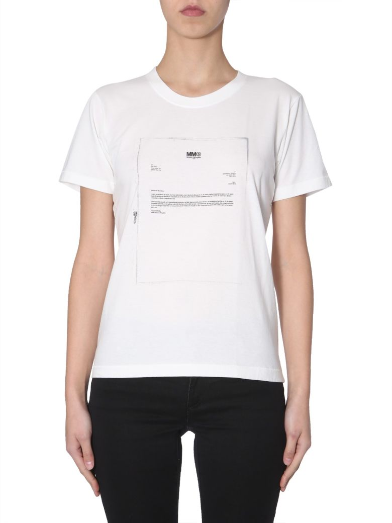 MM6 Maison Margiela Round Neck T-shirt - BIANCO