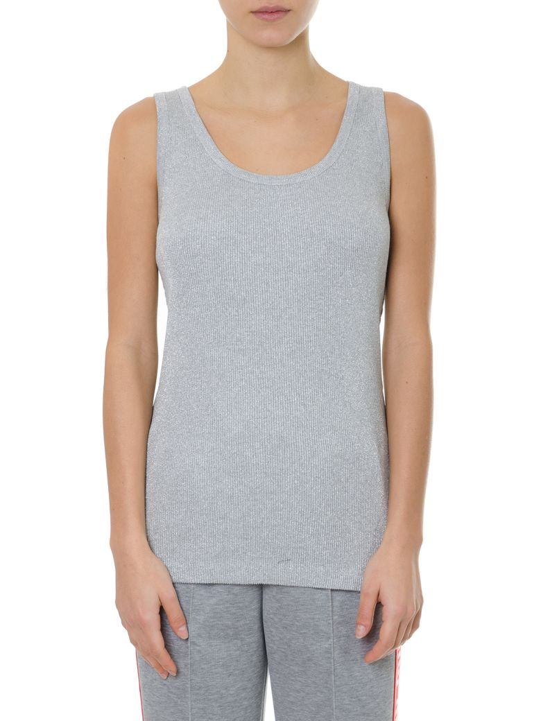 Miu Miu Gray Tank Top In Cotton - Silver