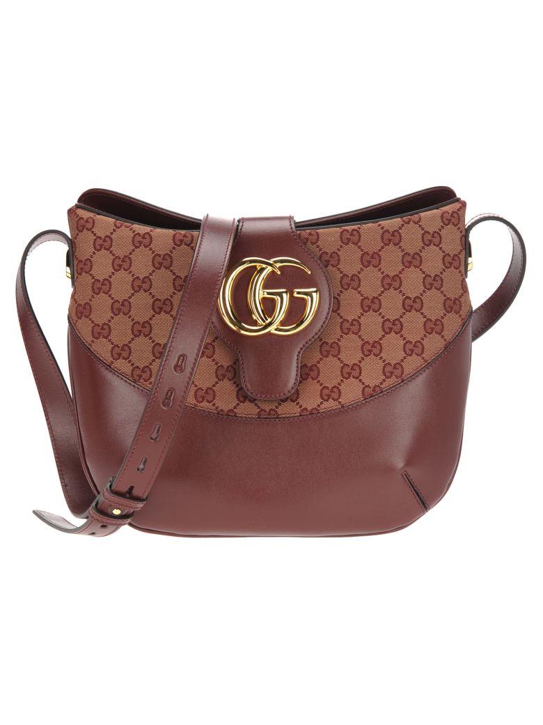 Gucci Gucci Arli Gg Medium Shoulder Bag - BEIGE/BORDEAUX