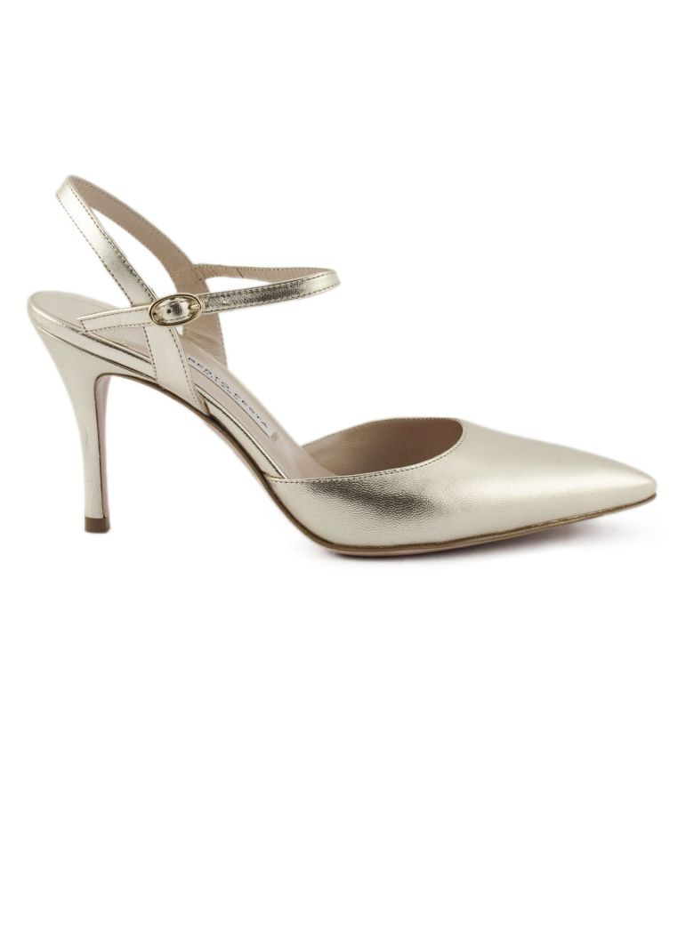 Roberto Festa Marte Pump In Platinum Leather - Platino