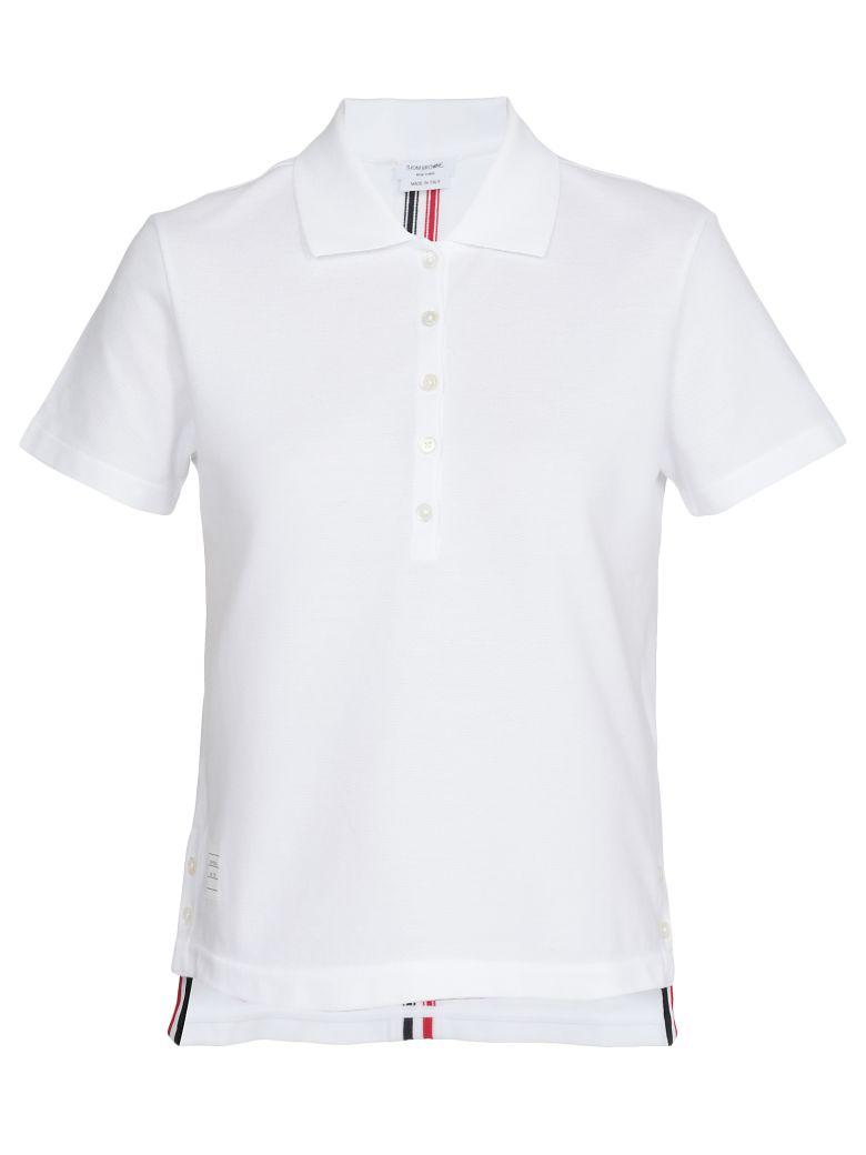 Thom Browne Cotton Polo Shirt - WHITE
