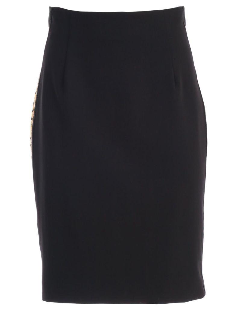 Versace Collection Logo Pencil Skirt - Nero