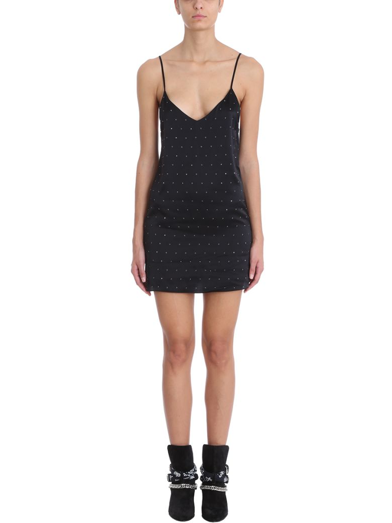 AMIRI Black Silk Short Dress - black