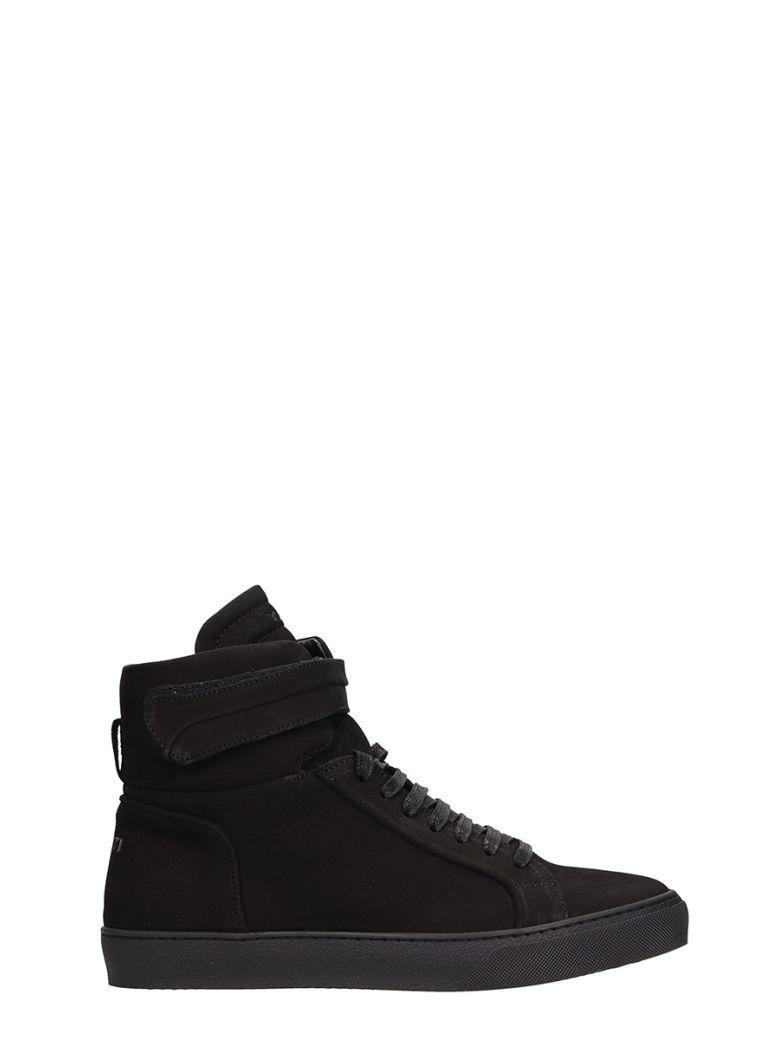 Ylati Footwear Amalfi High Black High Suede Sneakers - black