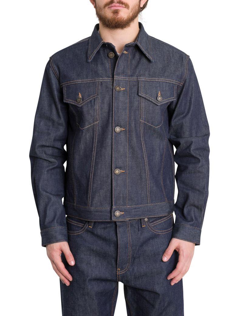 Calvin Klein Jeans Trucker Selvedge Denim Jacket - Blu