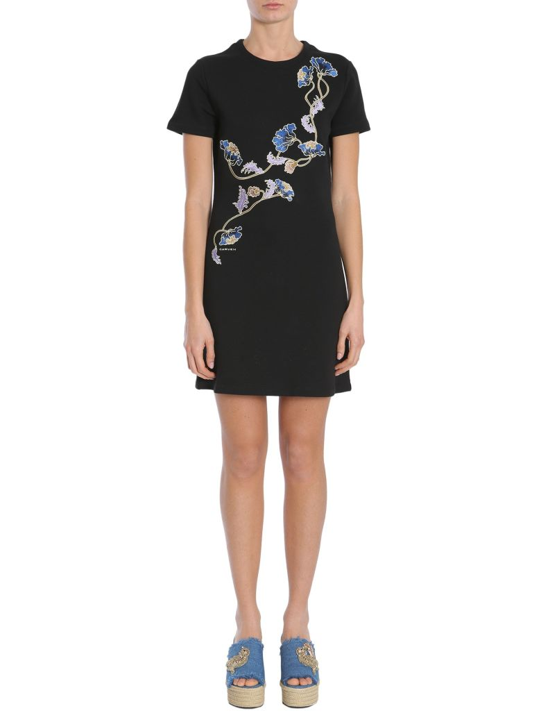 Carven Short Sleeve Dress - NERO
