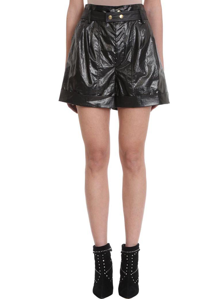 Isabel Marant Tweni Black Metallic Effect Cotton Shorts - black