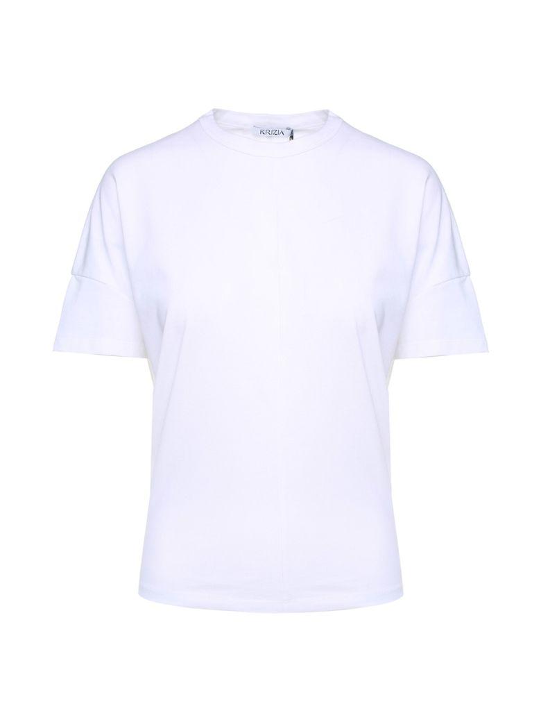 Krizia Panther-embroidery Cotton-jersey T-shirt - Bianco