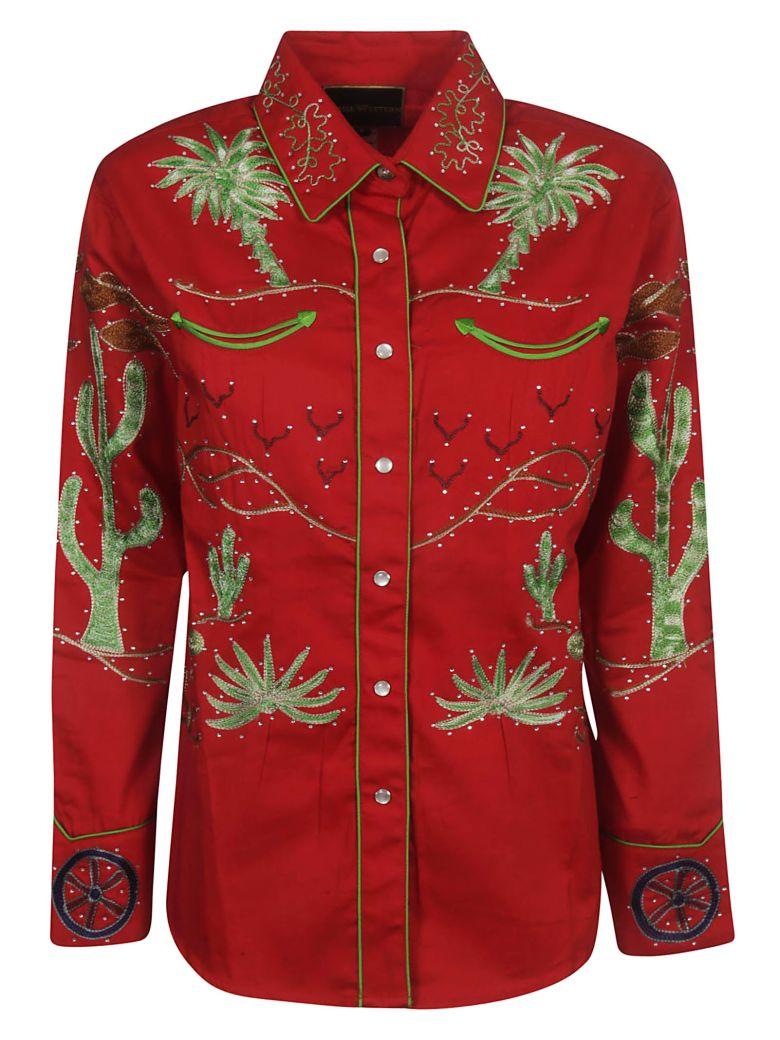 Jessie Western Wagon Wheel Shirt - Red