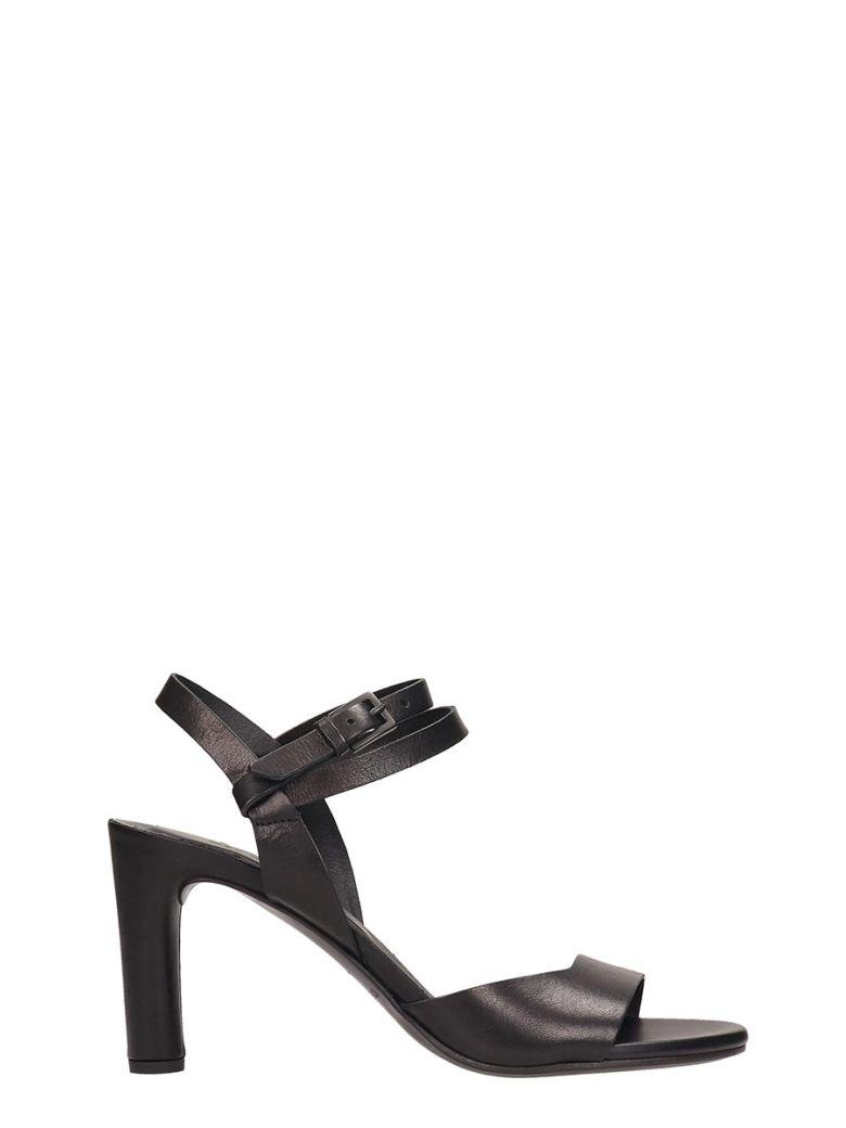 Roberto del Carlo Black Leather Sandals - black