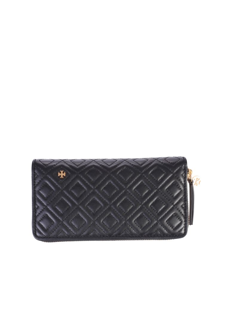 Tory Burch Black Fleming Quilted Wallet - Black