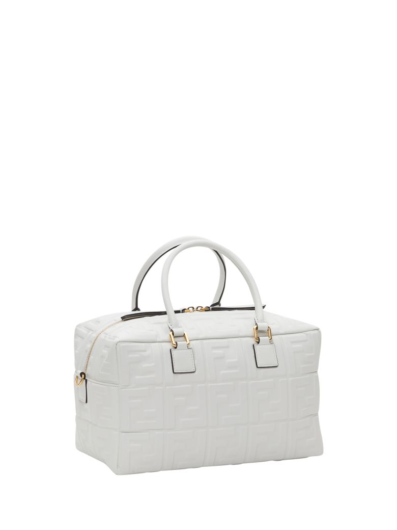 Fendi Small Boston Bag - White