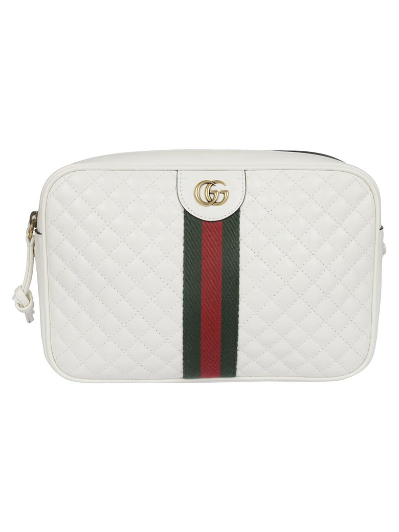 Gucci Quilted Small Shoulder Bag - Off White