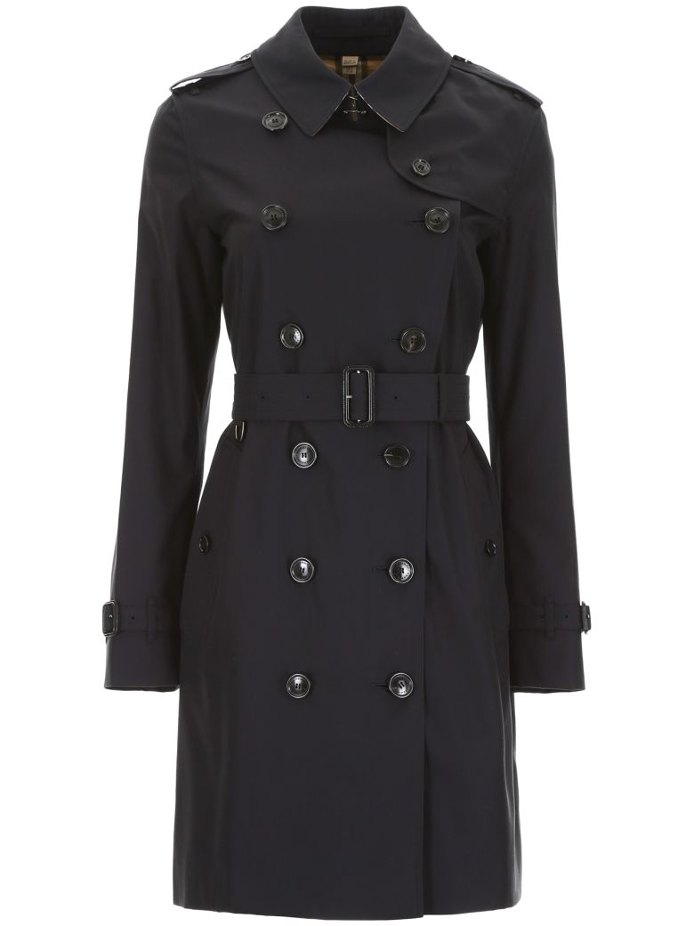 Burberry Kensington Midi Trench Coat - MIDNIGHT (Blue)