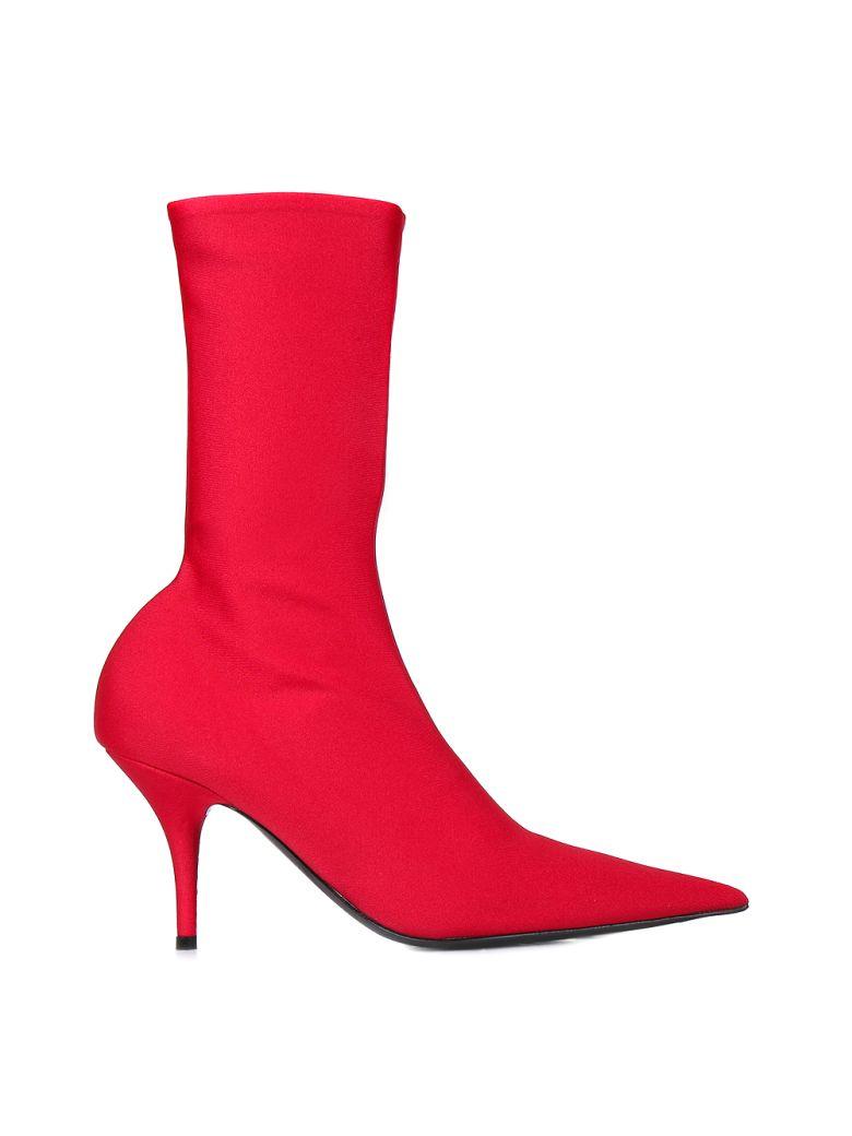 Balenciaga - Balenciaga Knife Boots - Rouge