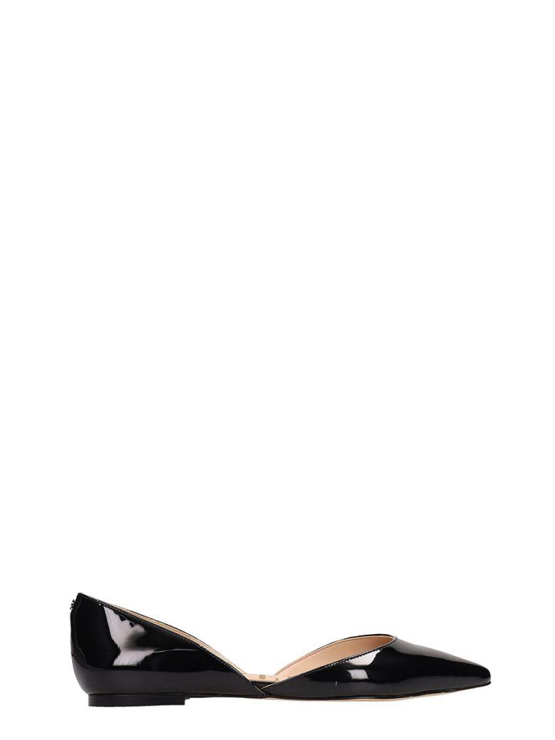Sam Edelman Black Patent Leather Rodney Ballarinas - Black