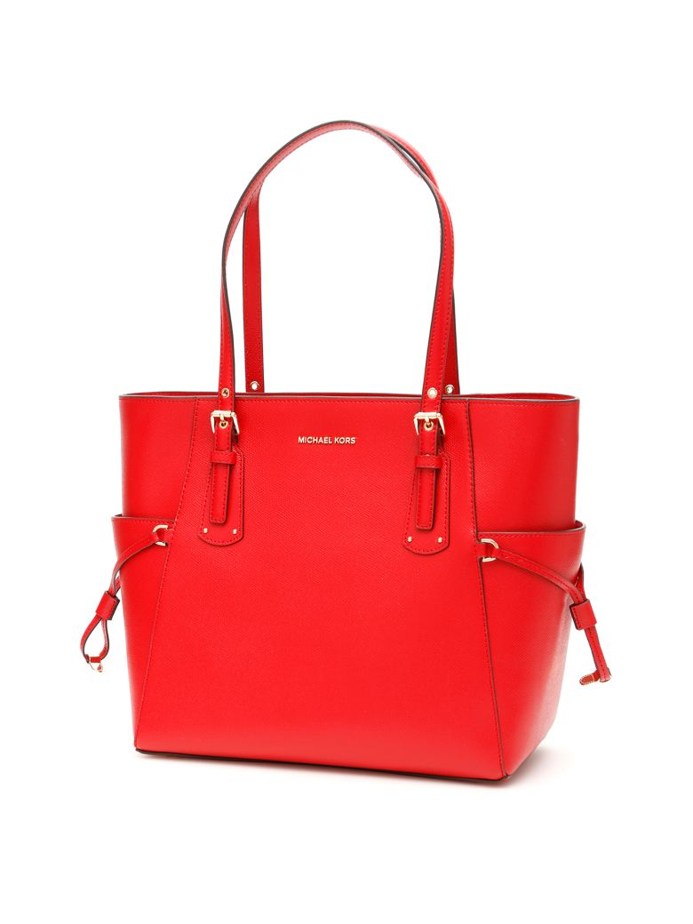 MICHAEL Michael Kors Voyager Leather Tote Bag - BRIGHT RED (Red)