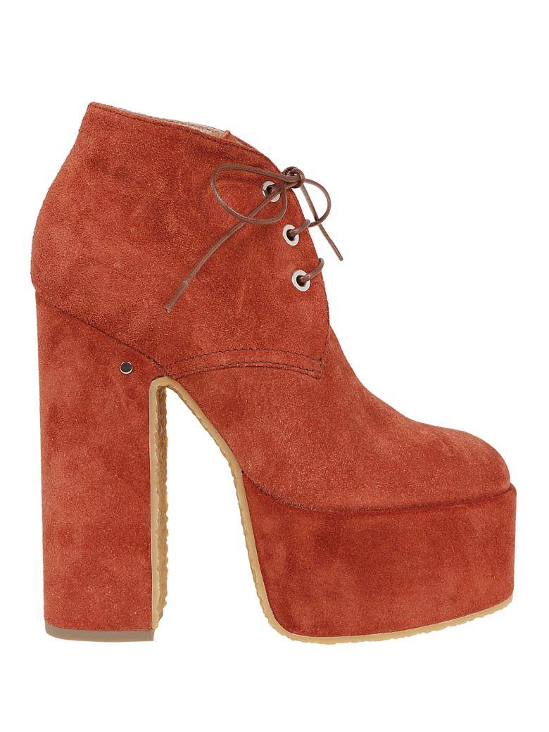 Laurence Dacade Platform Ankle Boots - Cognac