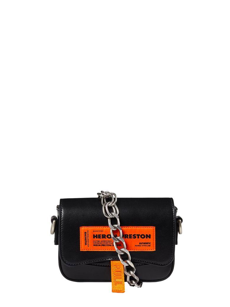 HERON PRESTON Label Mini Canal Bag - Nero