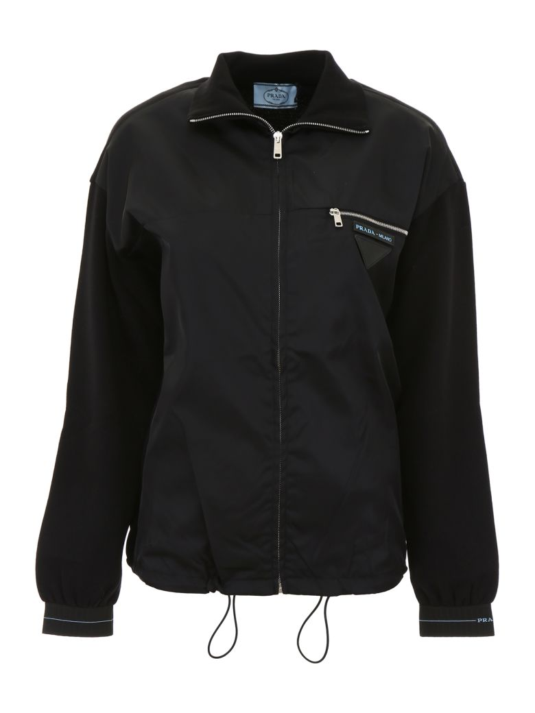 Prada Linea Rossa Wool And Nylon Pull - NERO (Black)