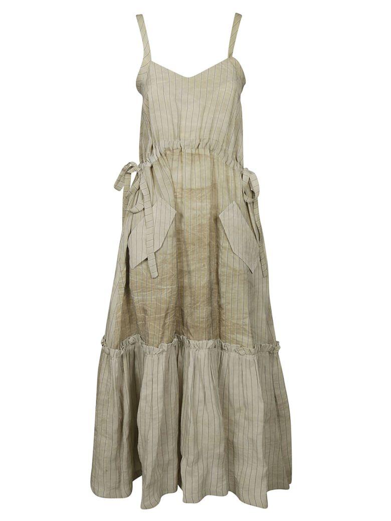 Golden Goose Striped Sleeveless Dress - Almond