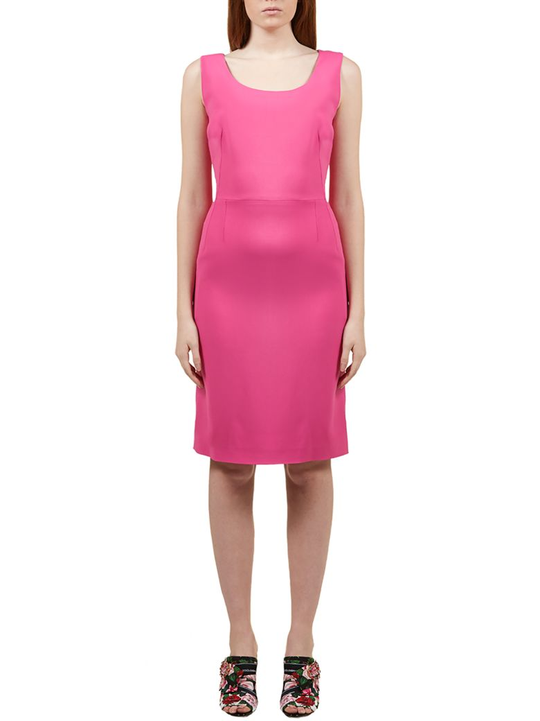 Dolce & Gabbana Fitted Midi Dress - Fuxia