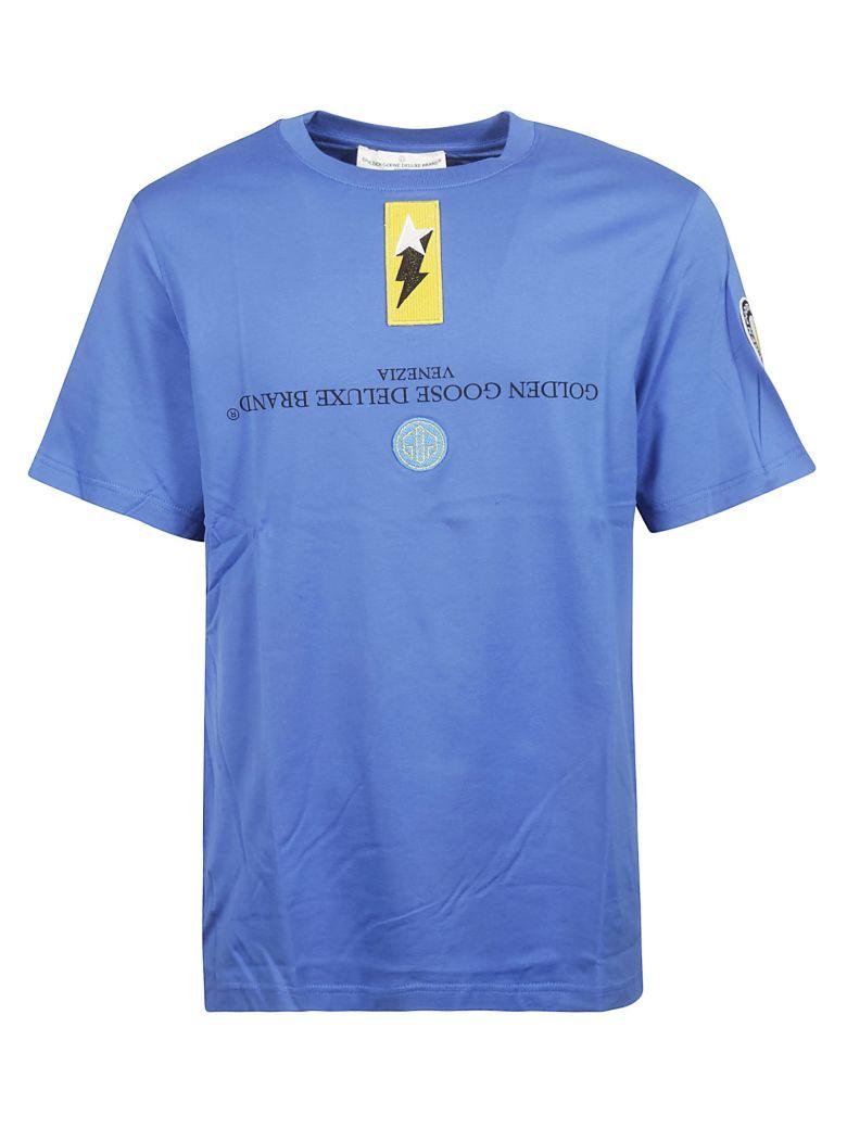 Golden Goose Logo Patch T-shirt - Blue