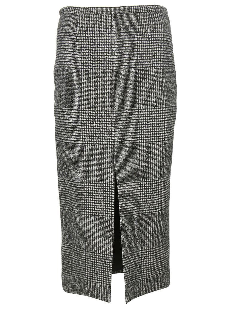 Rochas Plaid Pencil Skirt - Black
