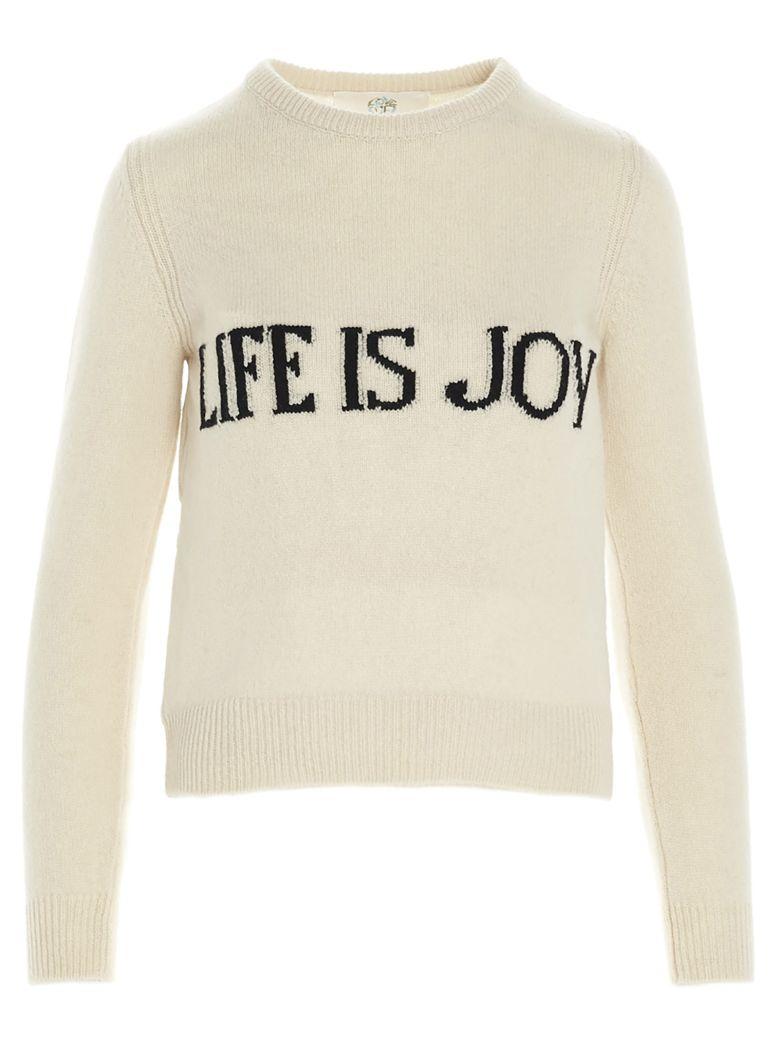 Alberta Ferretti 'life Is Joy' Sweater - Beige