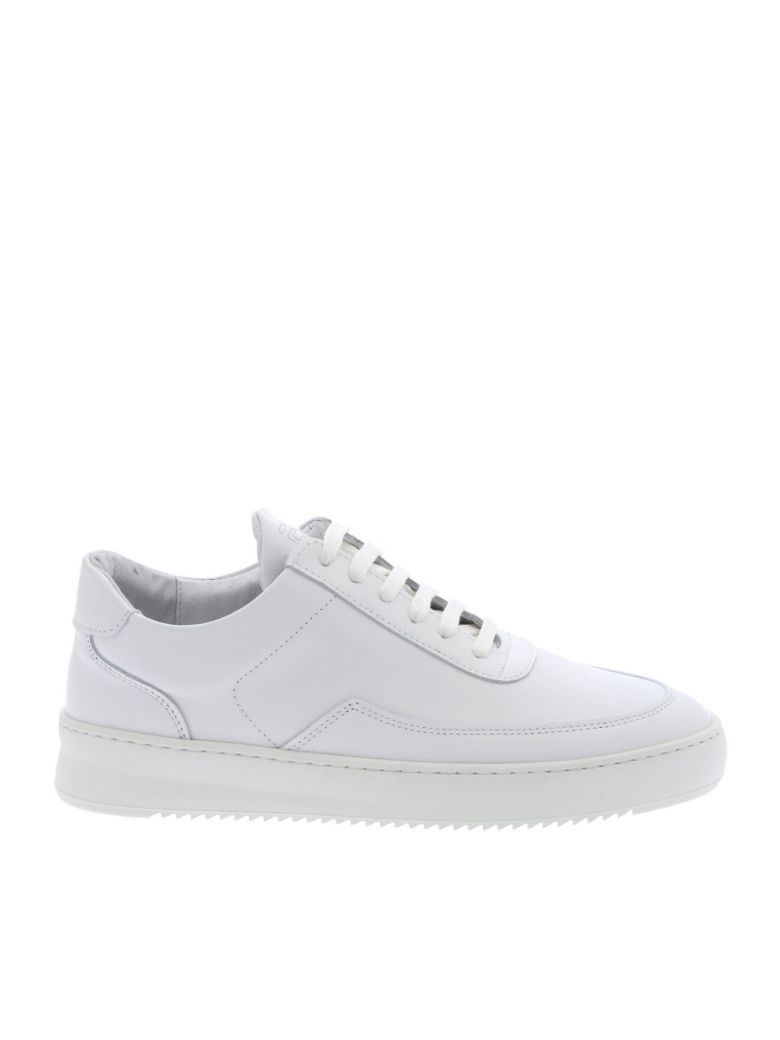 Filling Pieces Sneaker Leather Low Mondo Ripple - White
