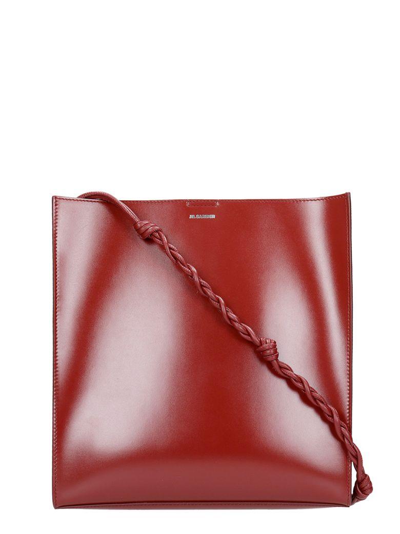 Jil Sander Tangle Md Shoulder Bag In Red Leather - red