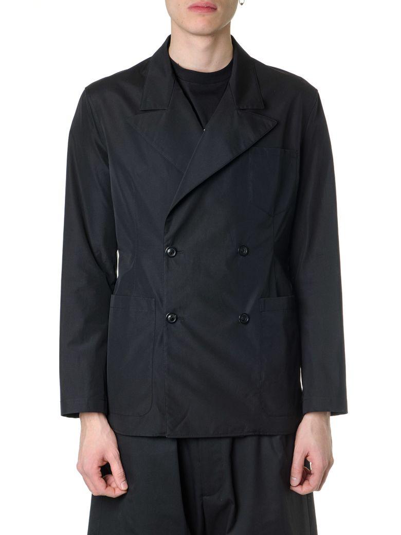 Maison Margiela Black Poplin Double Breasted Jacket - Black