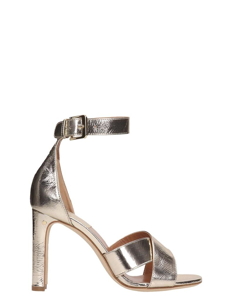 Laurence Dacade Platinum Leather Sandals - Gray